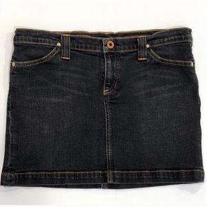 Ag Adriano Goldschmied Black Denim Mini Skirt